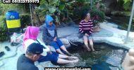 Wisata alam kolam air panas walini dari lumajang