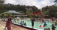 Wisata alam kolam air panas walini dari tabanan